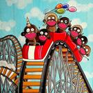 Art: La Montagne Russe (The roller coaster) by Artist Veronique Perron