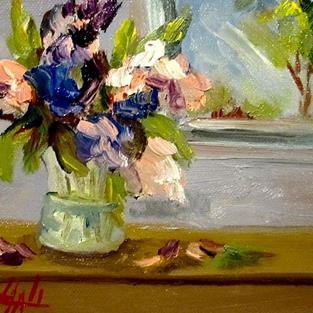 Art: Lilacs by Artist Delilah Smith