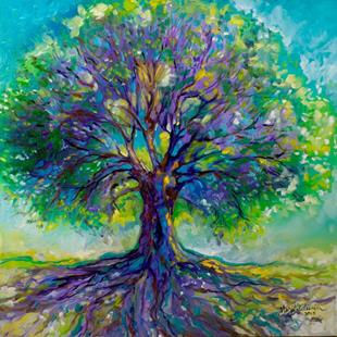 Art: PURPLE HEART Tree of Life by Artist Marcia Baldwin