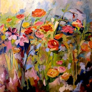 Art: Flower Garden by Artist Delilah Smith