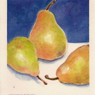 Art: 3 Pears by Artist Catherine Darling Hostetter