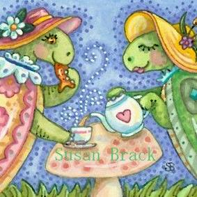 Art: TURTLE TEA PARTY by Artist Susan Brack