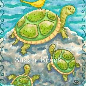 Art: TURTLE ROCK by Artist Susan Brack