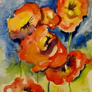 Art: Orange Poppies by Artist Delilah Smith