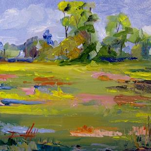 Art: Spring Meadow by Artist Delilah Smith