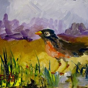 Art: Robin-sold by Artist Delilah Smith
