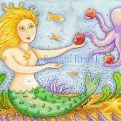 Art: MERMAID TEMPTATION by Artist Susan Brack