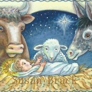 Art: AWAY IN THE MANGER by Artist Susan Brack
