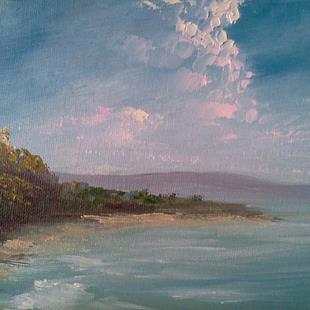 Art: Early Evening Cumulonimbus by Artist Kimberly Vanlandingham