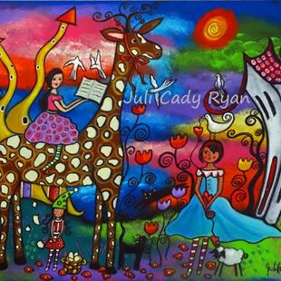 Art: A Meeting In The Meadow by Artist Juli Cady Ryan