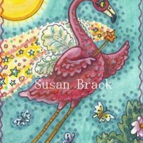 Art: THINK PINK AND MAKE A WISH by Artist Susan Brack