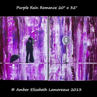 Art: Purple Rain Romance (sold) by Artist Amber Elizabeth Lamoreaux