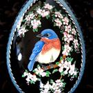 Art: Bluebird in Apple Tree by Artist So Jeo LeBlond