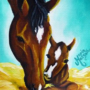 Art: Newborn  (SOLD) by Artist Monique Morin Matson