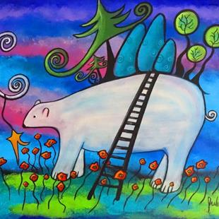 Art: A Polar Bear Welcome by Artist Juli Cady Ryan
