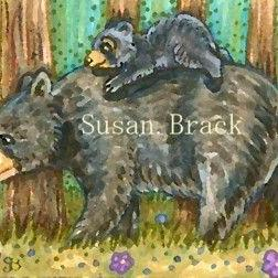 Art: MOMMA AND CUB by Artist Susan Brack