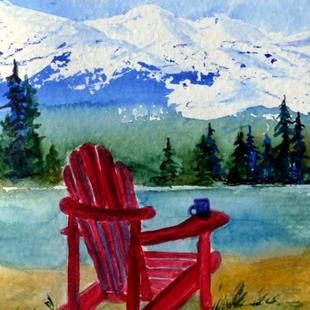 Art: Coffee Time (sold) by Artist Kathy Crawshay