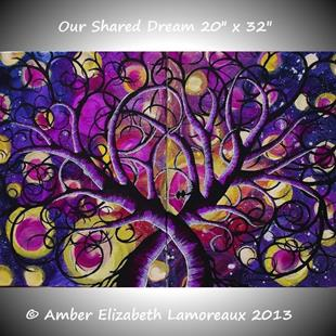 Art: Our Shared Dream (sold) by Artist Amber Elizabeth Lamoreaux