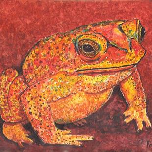 Art: Toad by Artist Ulrike 'Ricky' Martin