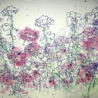 Art: Delicate Roses by Artist Mary Anne Carley
