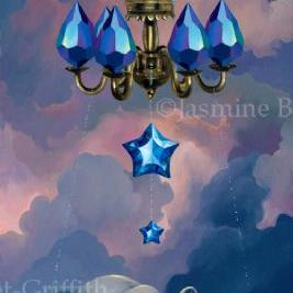 Art: Crystal Chariot ORIGINAL PAINTING by Artist Jasmine Ann Becket-Griffith