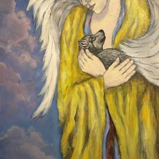 Art: Wolf Angel by Artist Virginia Ann Zuelsdorf