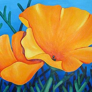 Art: California Poppies by Artist Lindi Levison
