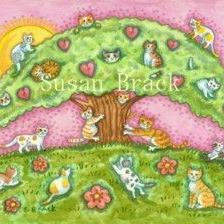 Art: CATS UP A TREE by Artist Susan Brack