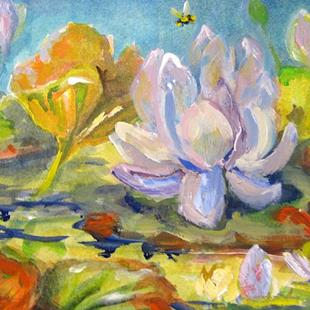 Art: Pond of Waterlilies by Artist Delilah Smith