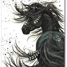 Art: Majestic Horse Series #65 Friesian Horse by Artist AmyLyn Bihrle