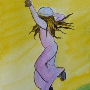 Art: Freedom (sold) by Artist Kathy Crawshay