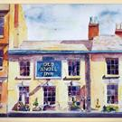 Art: Old Angel Inn, Lace Market, Nottingham by Artist John Wright