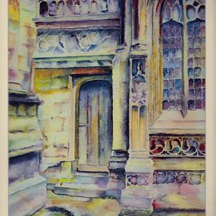 Art: South door, Lincoln Cathedral by Artist John Wright