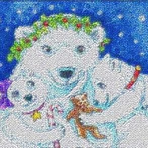 Art: A POLAR BEAR CHRISTMAS - Christmas by Artist Susan Brack