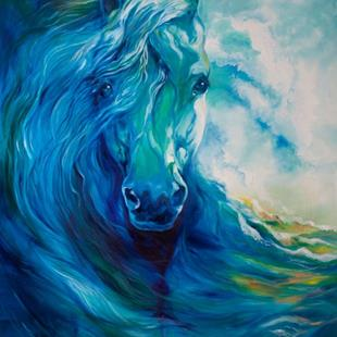 Art: BLUE GHOST EQUINE OCEAN by Artist Marcia Baldwin