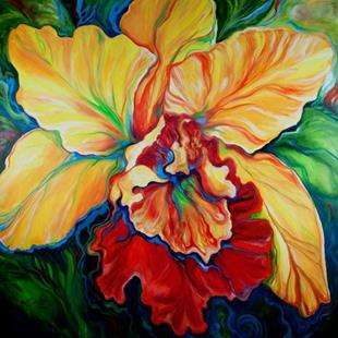 Art: TROPICAL ORCHID COMMISSION by Artist Marcia Baldwin