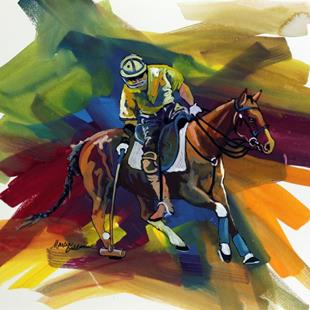 Art: POLO SKETCH 1 ~ COMMISSIONED by Artist Marcia Baldwin