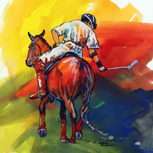 Art: POLO SKETCH 6 ~ COMMISSIONED by Artist Marcia Baldwin