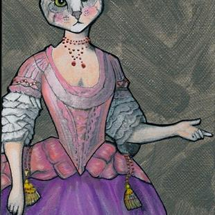 Art: Her Meow-jesty by Artist Sherry Key
