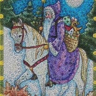 Art: WINTER'S JOURNEY - Needlepoint Tapestry Rug by Artist Susan Brack