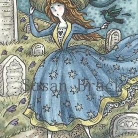 Art: WINDY HILL CEMETERY by Artist Susan Brack