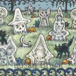 Art: WITCH CEMETERY by Artist Susan Brack
