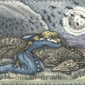 Art: WHEN DRAGONS FALL by Artist Susan Brack