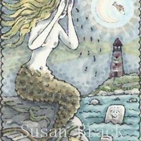 Art: SEA OF TEARS UNDER A FISH TAIL MOON by Artist Susan Brack