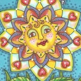 Art: FRECKLE FACE SUNSHINE by Artist Susan Brack