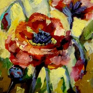 Art: Small Red Poppies by Artist Delilah Smith