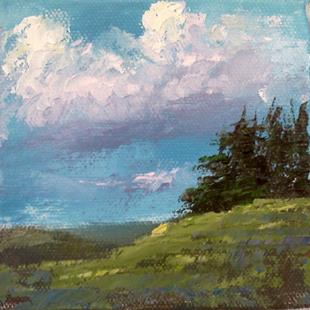 Art: Trees on the Hilltop 2013 by Artist Kimberly Vanlandingham