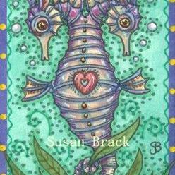 Art: LUCK OF A TWO HEADED SEAHORSE by Artist Susan Brack