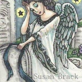 Art: ANGEL OF DEATH by Artist Susan Brack