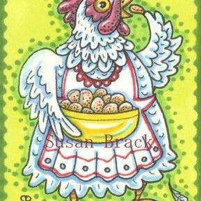 Art: CORN CHIPS MAKE HAPPY HENS by Artist Susan Brack